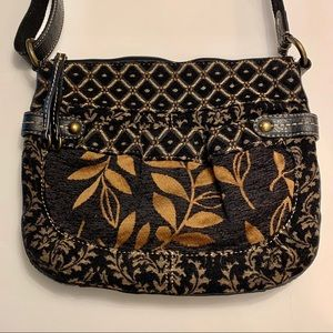 Fossil Brocade Fabric Adjustable Bag